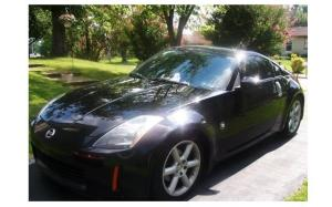 The black Nissan 350Z purchased after college graduation.