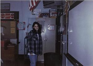 me in seventh grade in jeans and a flannel shirt