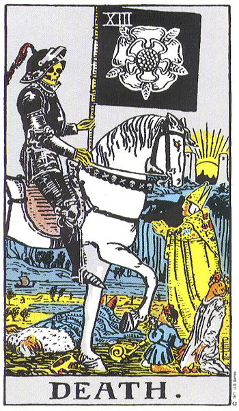 The death card from the Rider Waite deck