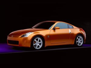 2003 orange Nissan 350Z