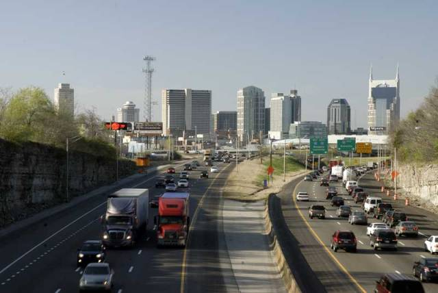 Average interstate traffic in Nashville