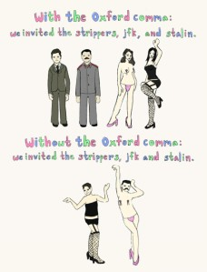 Not using the Oxford comma