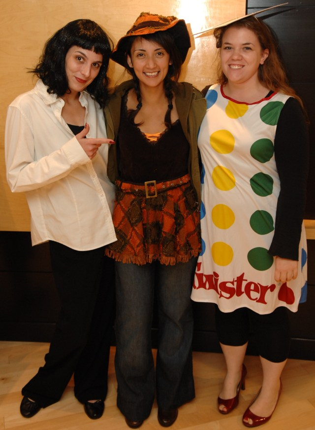 Mrs. Mia Wallace from Pulp Fiction with a scaracrow and Twister