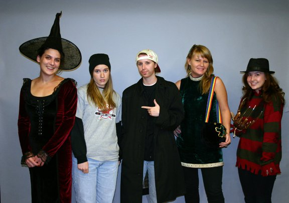 2010: You should recognize the dress from my first post. In this instance, I was a witch and bought a hat. Once again, I have great co-workers who posed with me!