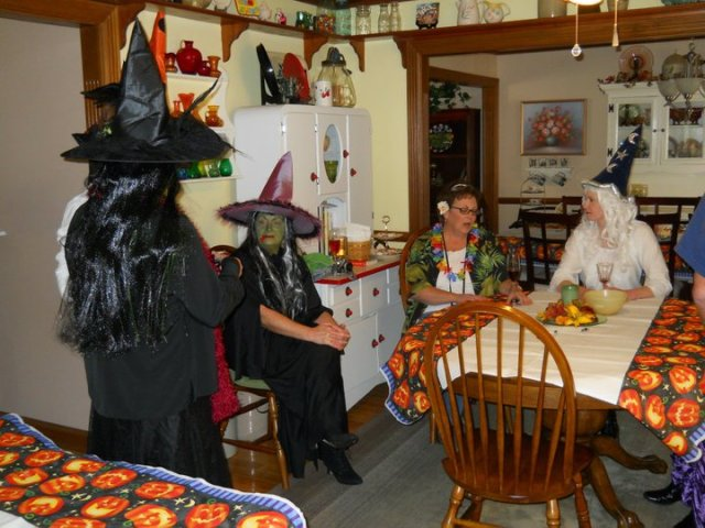 2010: Family reunion on Halloween. We had a coven of witches that year!