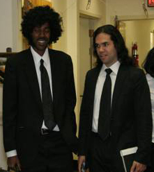 Pulp Fiction. My friend Ron (Jules in this photo) and my RevPub counterpart Raven talked me in to this one. Ron came as Jules and I was Vincent Vega from ...  sc 1 st  Revenant Publications & Halloween Costumes: A Personal Retrospective Part 3 u2013 Revenant ...