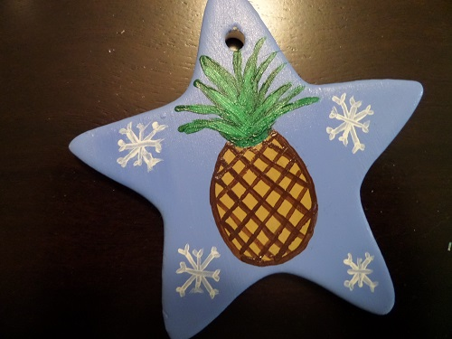 Psych Pineapple ornament