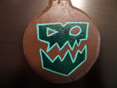Warhammer Ork ornament