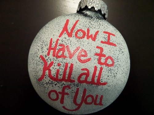 Scrooged ornament