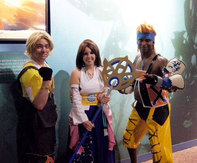 Team Cosplay is amazing. This is a spot-on Tidus, Yuna, and Wakka. He even had a Blitzball! (not pictured)